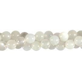 Maansteen (wit) kralen rond 8 mm (streng van 40 cm)