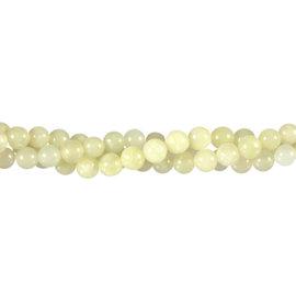 New jade (serpentijn) kralen rond 6 mm (streng van 40 cm)