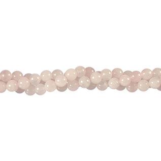 Rozenkwarts kralen rond 6 mm (streng van 40 cm)