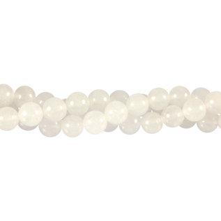 Sneeuwkwarts kralen rond 8 mm (streng van 40 cm)