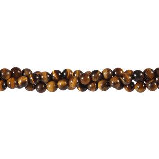 Tijgeroog kralen rond 6 mm (streng van 40 cm)