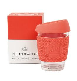 Neon Kactus Glazen koffiebeker coral - 340 ml