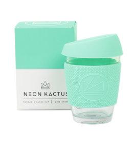 Neon Kactus Glazen koffiebeker mint - 340 ml