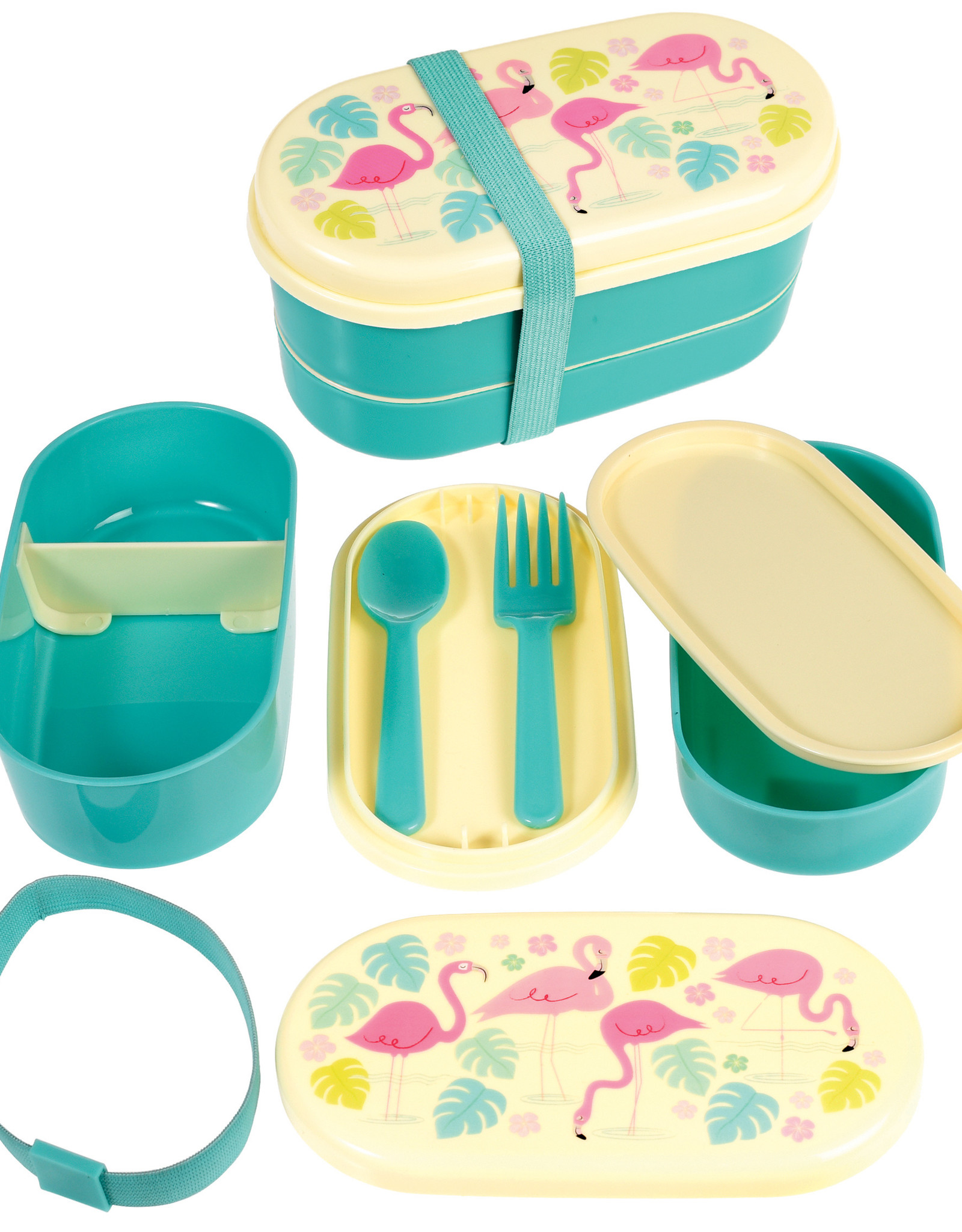 Rex London Bento box voor kleuters - Flamingo bay