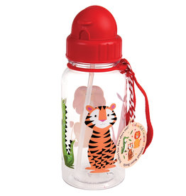 Rex London Drinkbus met rietje - Colourful creatures 500 ml