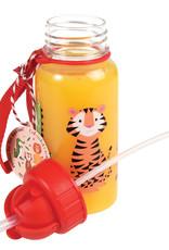 Rex London Drinkbus met rietje - Colourful creatures 500 ml