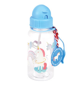 Rex London Drinkbus met rietje - Magical unicorn 500 ml