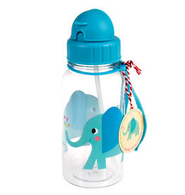 Rex London Drinkbus met rietje - Elvis the elephant 500 ml