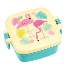 Rex London Mini snackdoosje - Flamingo bay