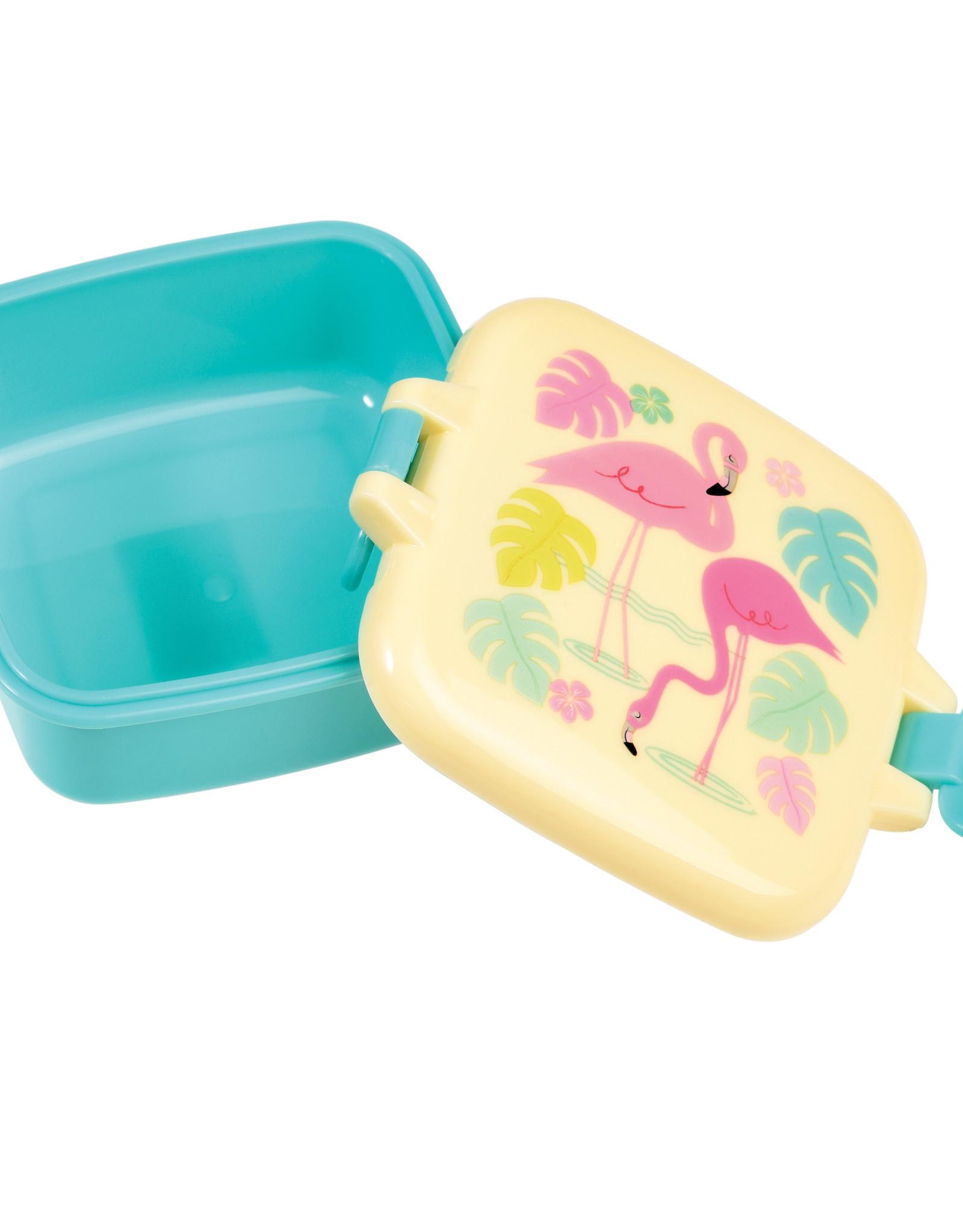 Rex London Mini snackdoosje - Flamingo bay