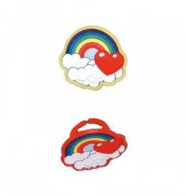 Regenboog ringen - 3 stuks