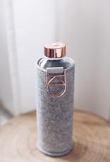 Equa Glazen drinkfles met cover - Rose gold 750 ml
