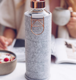 Equa Glazen drinkfles met cover - Rose gold 750 ml