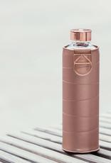 Equa Glazen drinkfles met cover - Bronze 750 ml