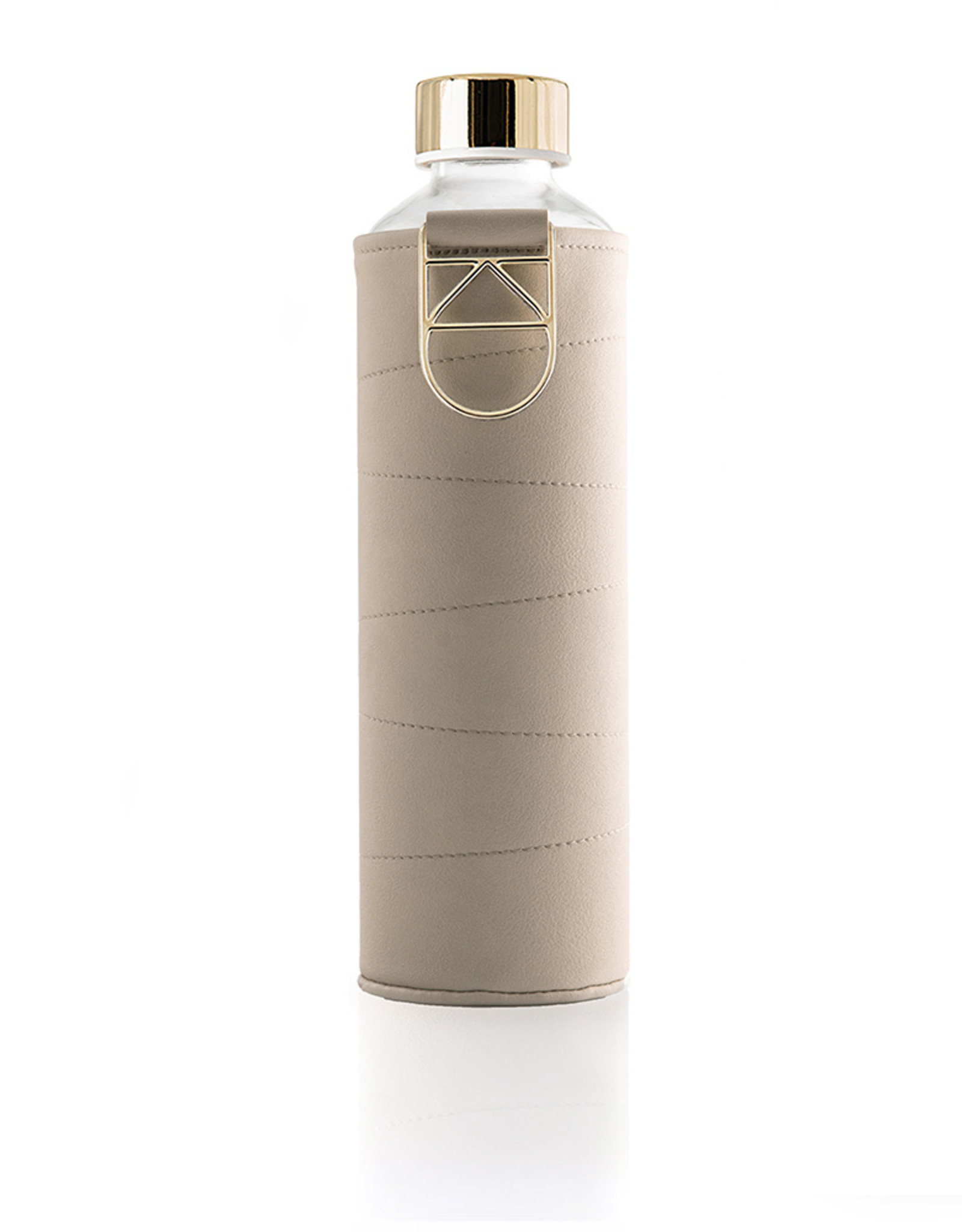 Equa Glazen drinkfles met cover - Beige 750 ml