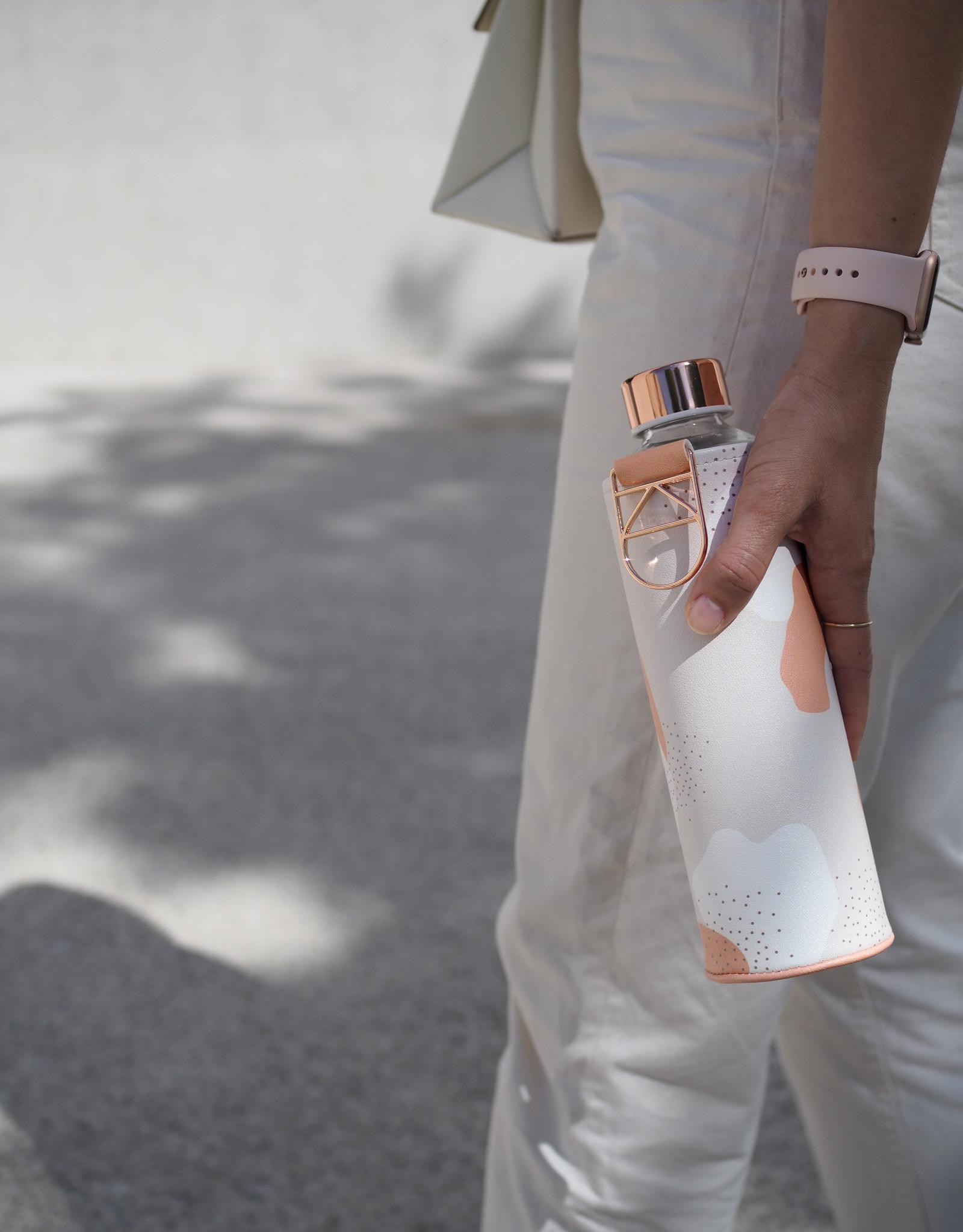 Equa Glazen drinkfles met cover - Heavens 750 ml