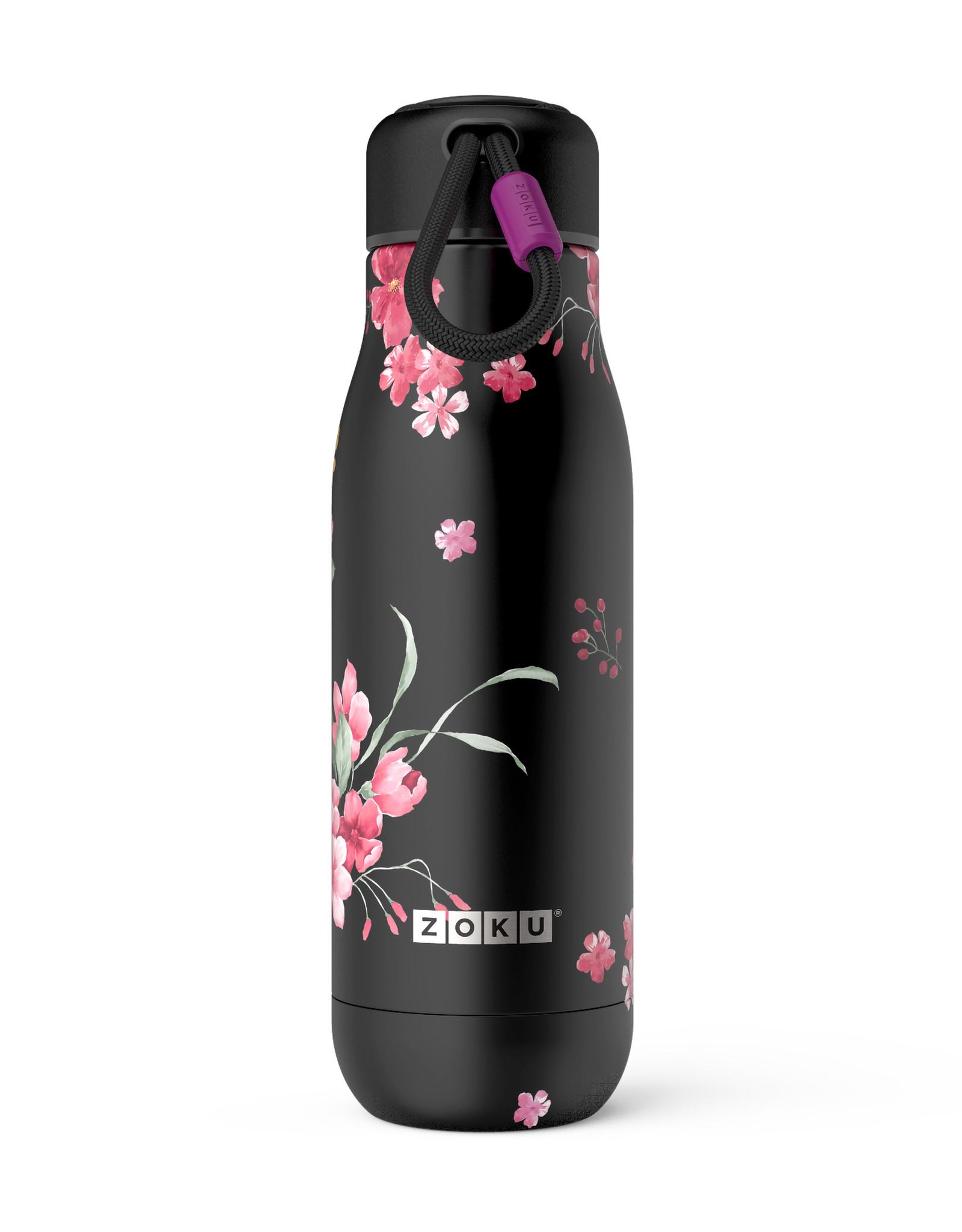 Zoku RVS drinkbeker - Midnight floral 500 ml