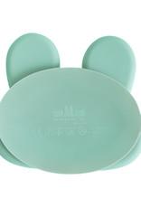 We Might Be Tiny Sticky plate bunny - Minty green