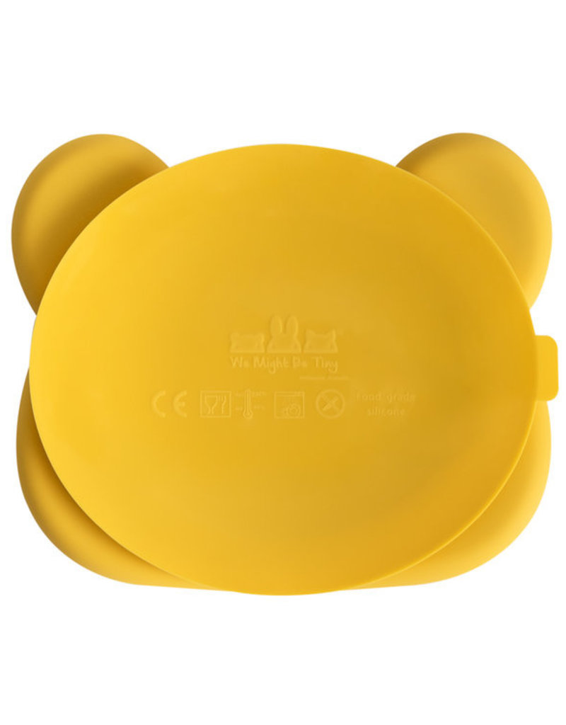 We Might Be Tiny Sticky plate bear - Yellow