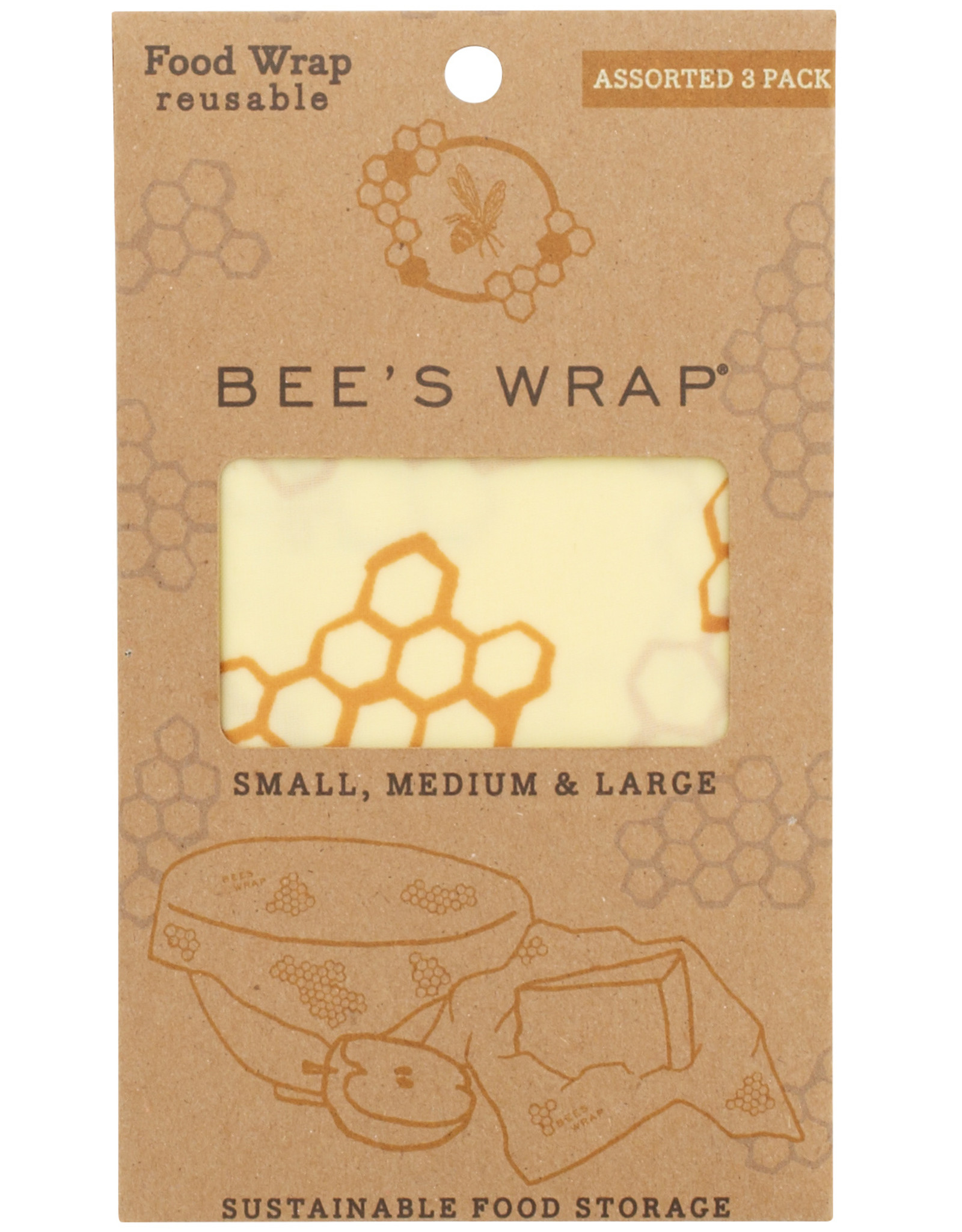 Bee's Wrap Bee's wrap - Assorted  (set of 3)