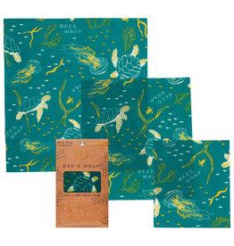 Bee's Wrap Bee's wrap - Assorted Ocean (set of 3)