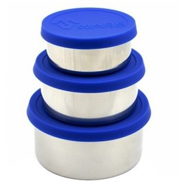 Made Sustained Ronde lunchboxen (set of 3) - Cobalt blue