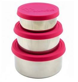 Made Sustained Ronde lunchboxen (set of 3) - Magenta