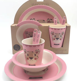 STUDIOLOCO Bamboe dinnerware set - Luipaard