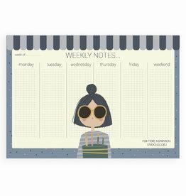 STUDIOLOCO A4 Weekplanner - Girl