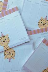 STUDIOLOCO A4 Weekplanner - Luipaard