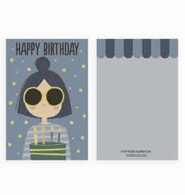 STUDIOLOCO Verjaardagskaart (set van 6) - Girl