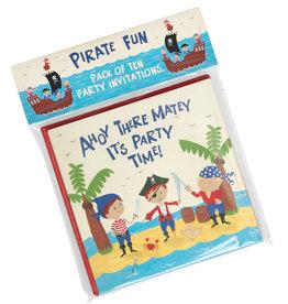 Rex London Uitnodigingen verjaardag (set van 10) - Piraat
