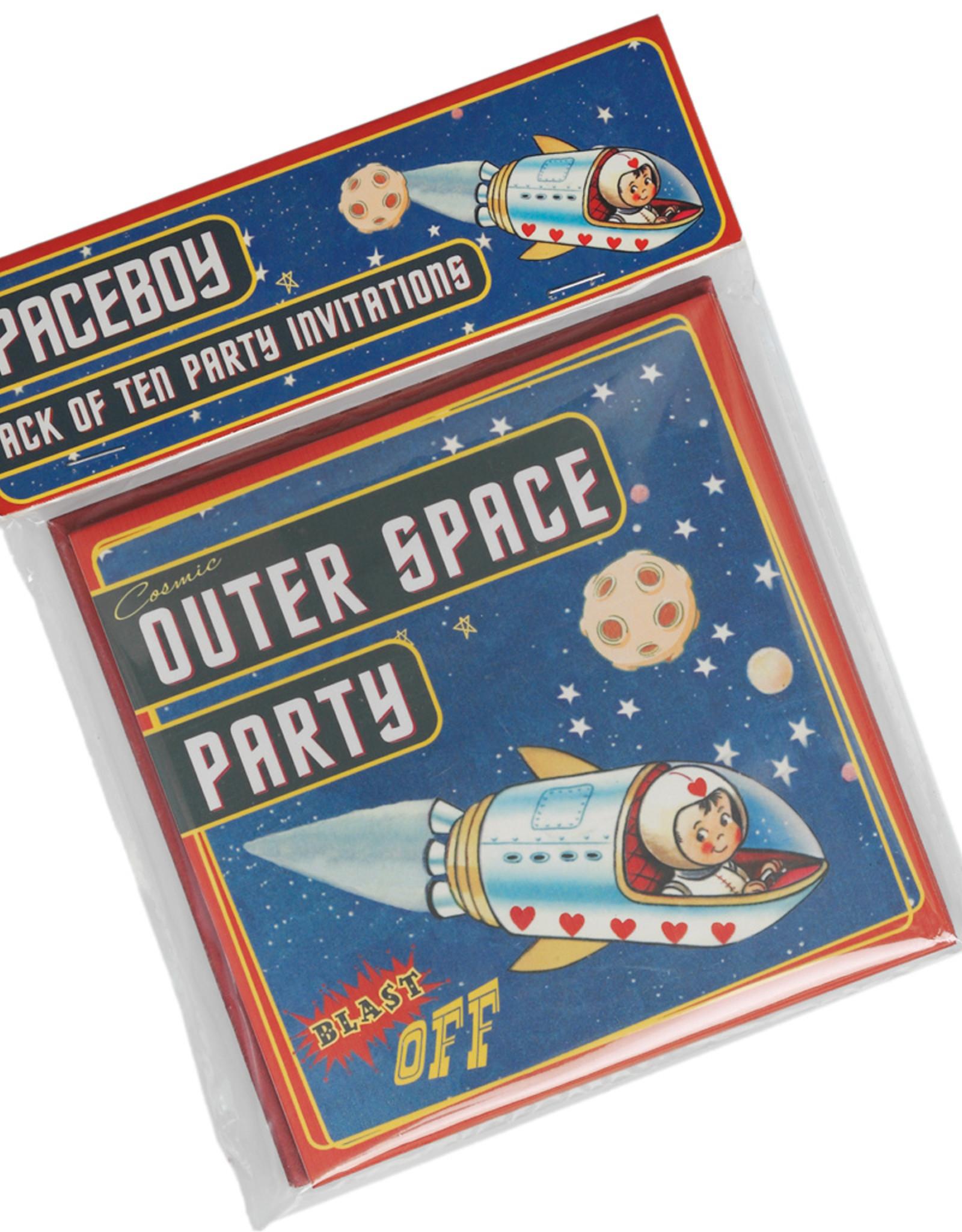 Rex London Uitnodigingen verjaardag (set van 10) - Spaceboy