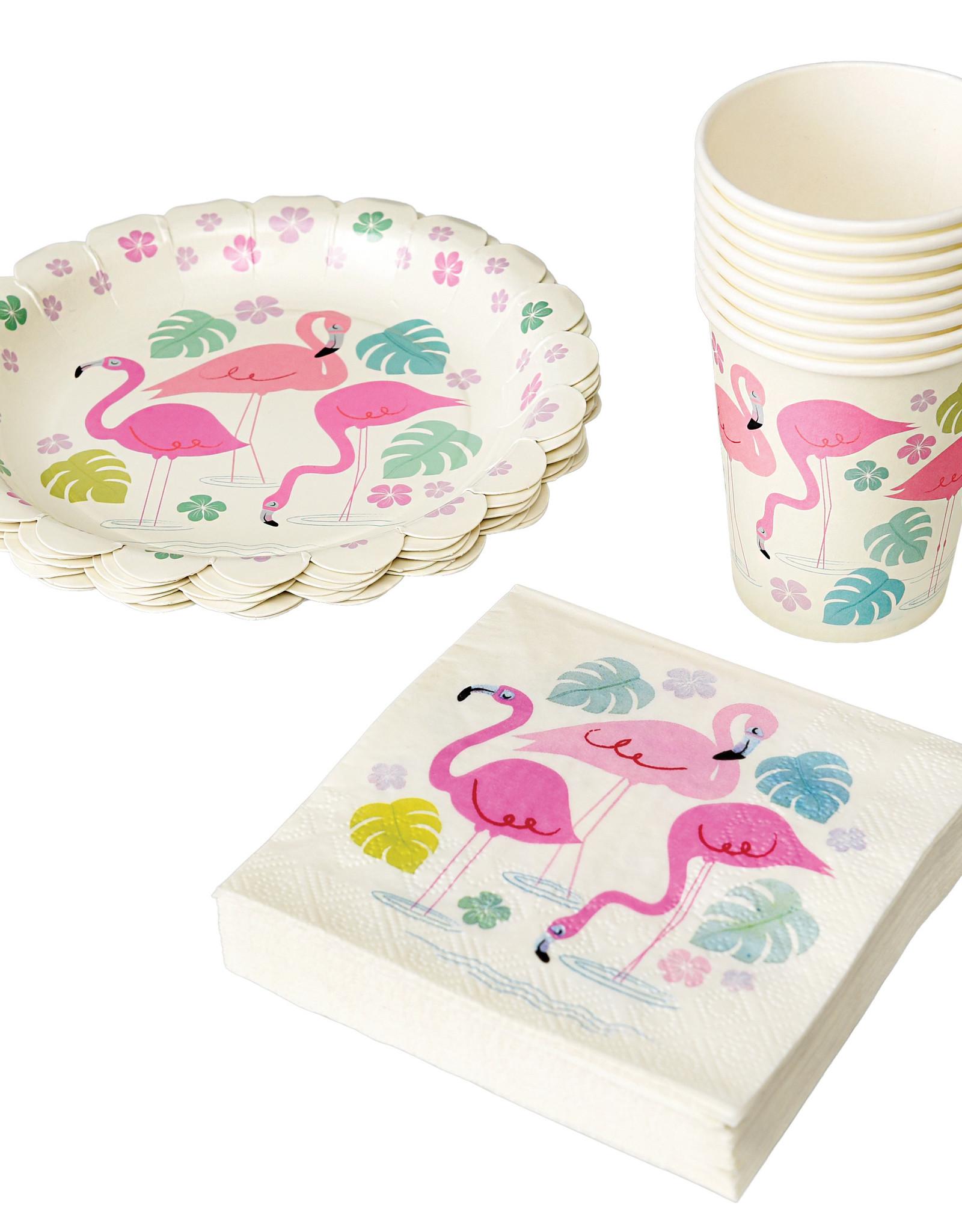 Rex London Servietten (20 stuks) - Flamingo bay