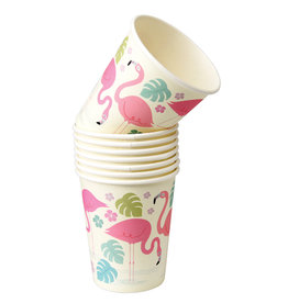 Rex London Papieren bekers (8 stuks) - Flamingo bay