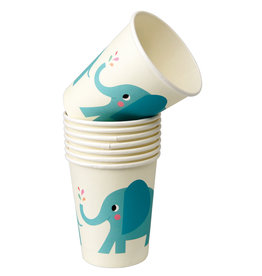 Rex London Papieren bekers (8 stuks) - Elvis the elephant