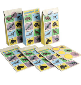 Rex London Party bags ( 6 stuks) - Prehistoric land