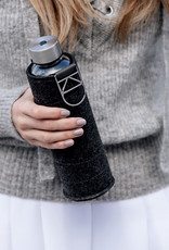Equa Glazen drinkfles met cover - Silver 750 ml