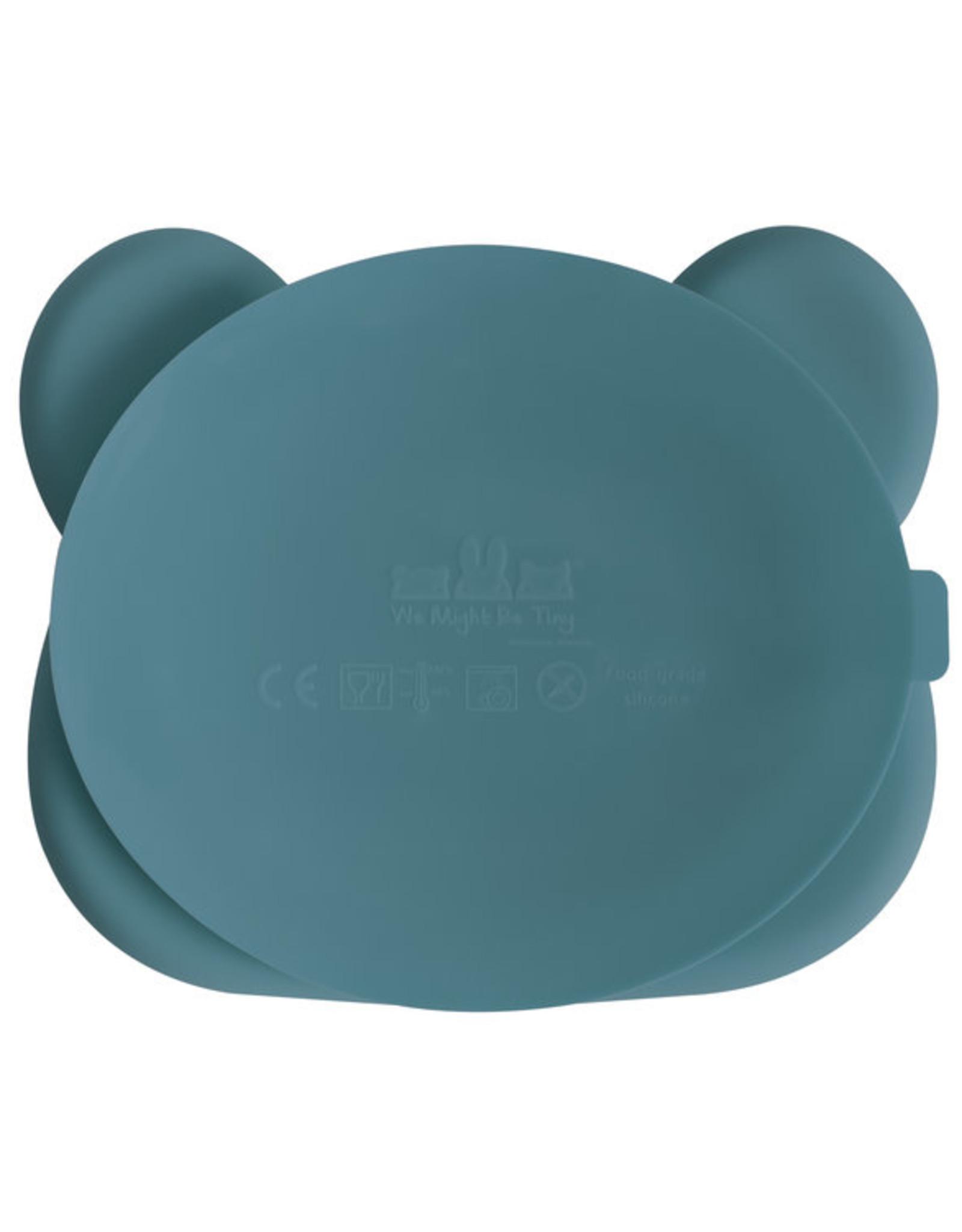 We Might Be Tiny Sticky plate bear - Blue dusk