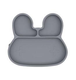 We Might Be Tiny Sticky plate bunny - Grey
