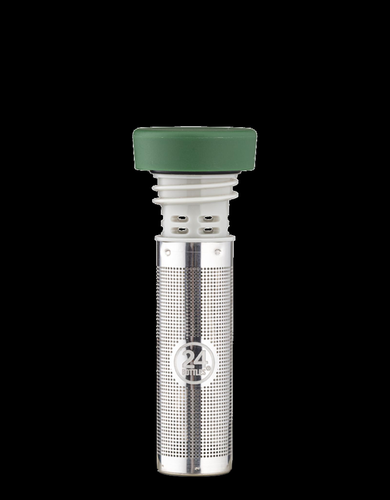24 bottles Tea infuser lid - Groen