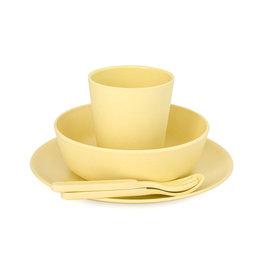 bobo & boo Bamboe dinner set - Sunshine yellow