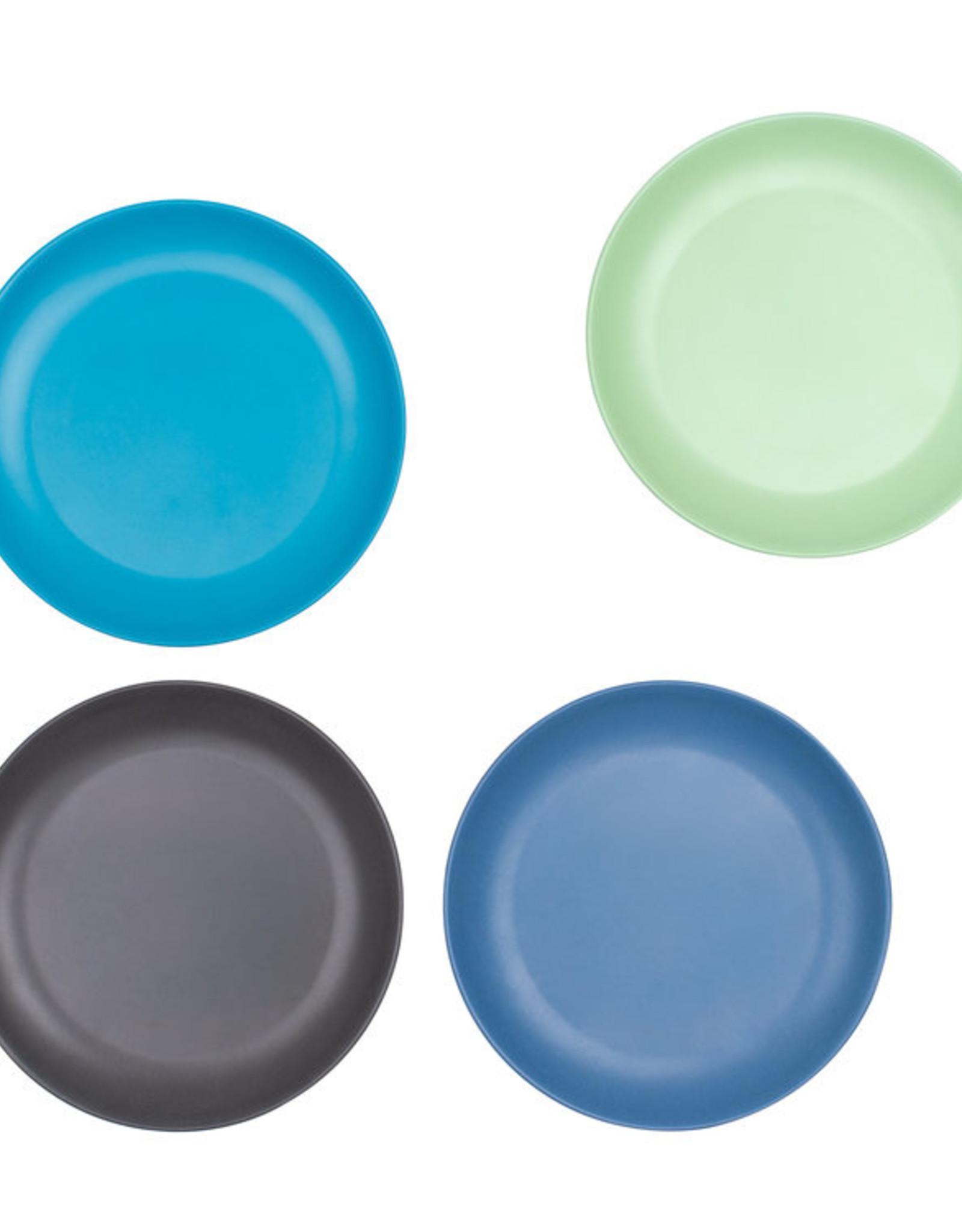 bobo & boo Bamboe borden set - Coastal blue