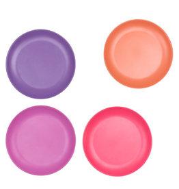 bobo & boo Bamboe borden set - Sunset pink