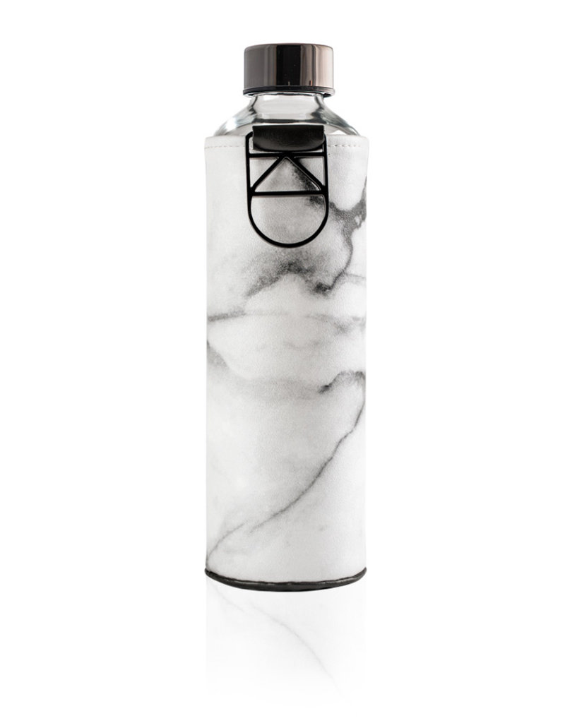Equa Glazen drinkfles met cover - Stone 750 ml