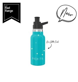 Montii Mini Montii thermische drinkbus - 350 ml glitter aqua