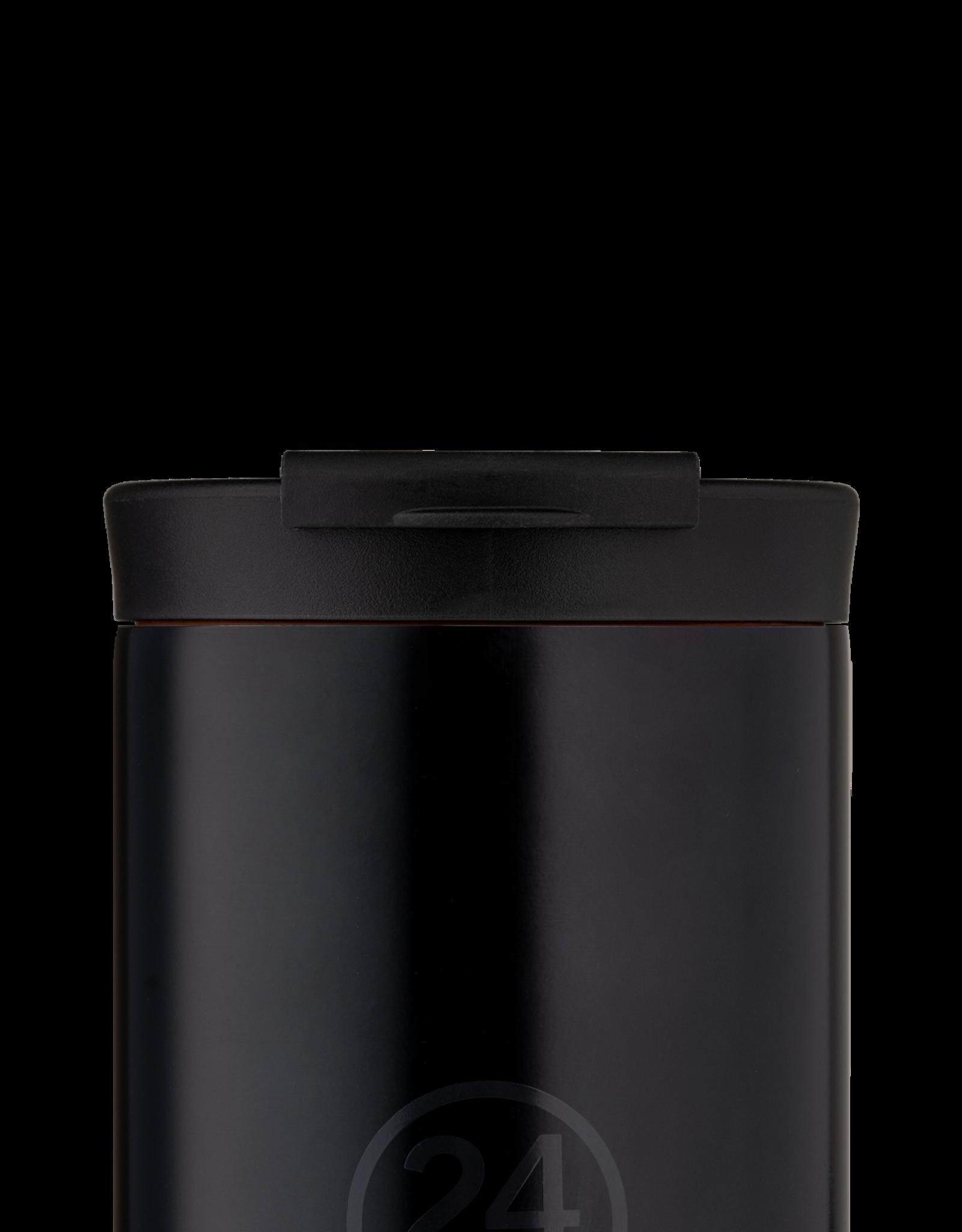 24 bottles Travel tumbler koffiebeker - Tuxedo black 350 ml