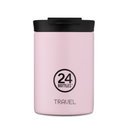 24 bottles Travel tumbler koffiebeker - Candy pink 350 ml