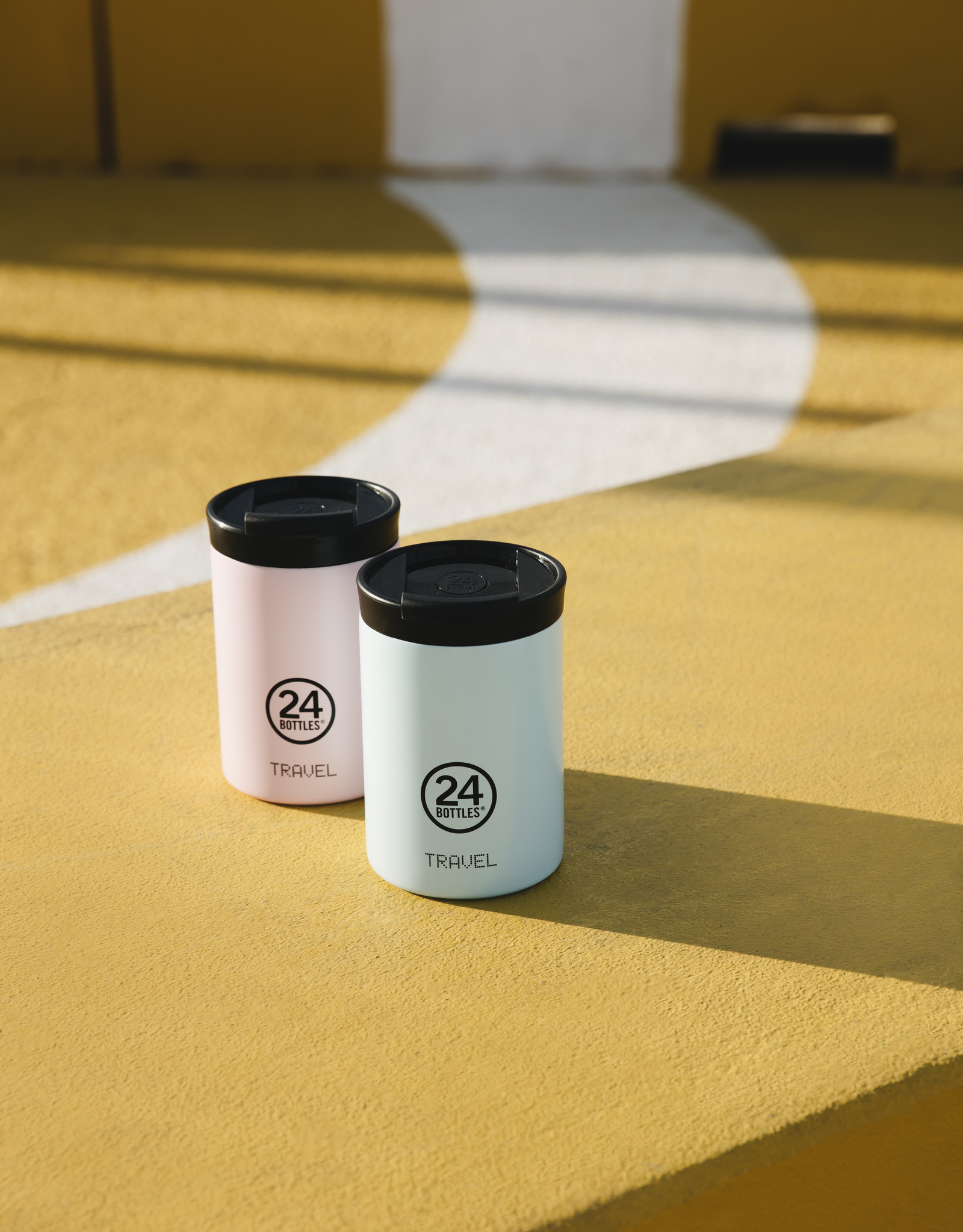 24 bottles Travel tumbler koffiebeker - Candy pink 350 ml