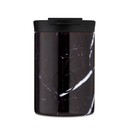 24 bottles Travel tumbler koffiebeker - Black marble 350 ml